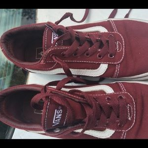 Girls Vans BURGUNDY excellent brand new